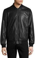 Calvin Klein Reversible Faux Leather Bomber Jacket