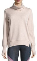 Alo Yoga Haze Long-Sleeve Turtleneck Sweatshirt, Buff Heather
