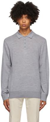 Ermenegildo Zegna Grey Wool Knit Polo