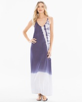 Soma Intimates Strappy Tie Dye Coverup Maxi Dress Blue