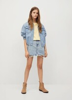 Thumbnail for your product : MANGO Ripped-detail denim skirt