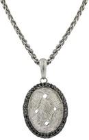 Effy Jewelry Effy 925 S. Silver Black Diamond Pendant, 1.29 TCW