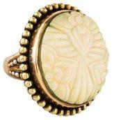Stephen Dweck Carved Bone Floral Cocktail Ring