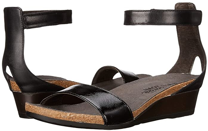Naot Footwear Pixie (Black Luster Leather/Black Raven Leather/Black Madras Leather) Women's Sandals