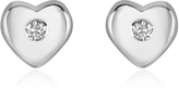 Forzieri 0.055 ct Diamond Heart 18K Gold Earrings