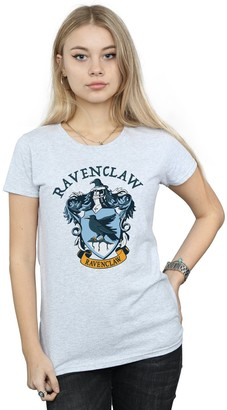 Absolute Cult Harry Potter Women's Ravenclaw Crest T-Shirt Sport Grey Small