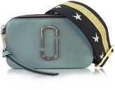 Marc Jacobs Snapshot Dolphin Blue Leather Camera Bag w/Shoulder Strap