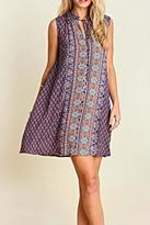 Umgee USA Print Keyhole Dress
