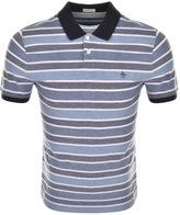 Original Penguin Birdseye Stripe Polo T Shirt Navy