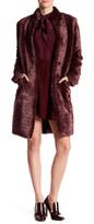 ABS by Allen Schwartz Striated Faux Fur Coat