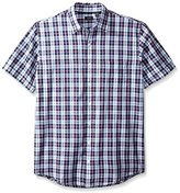 Arrow Men's Big and Tall Short Sleeve Seaside Textured Solid Shirt