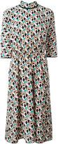 Prada geometric floral dress - women - Silk - 38