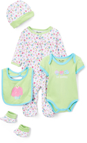 Sweet & Soft Green Cupcake Five-Piece Layette Set - Infant