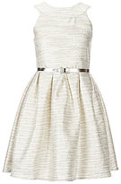 Blush by Us Angels Big Girls 7-16 Jacquard Pleated-Waist Dress
