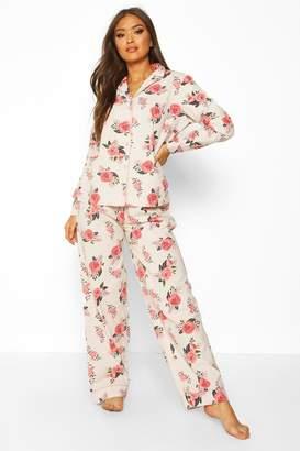 boohoo Floral Brushed Cotton PJ Set