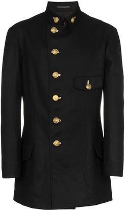 Yohji Yamamoto stand-up collar coat