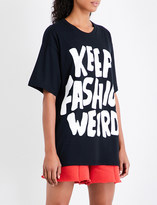 Jeremy Scott Keep Fashion Weird cotton-jersey T-shirt