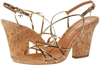 Tory Burch 90 mm Penelope Sandal (Gold/Natural) Women's Shoes