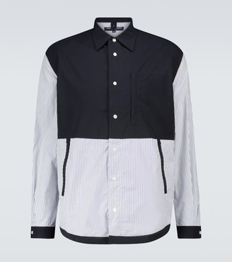 Comme des Garçons Homme Long-sleeved patchwork shirt