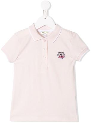 Kenzo Kids Logo Embroidered Polo Top