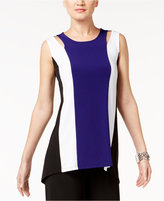 Alfani Petite Colorblocked Cutout Top, Only at Macy's