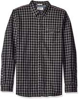 Tommy Hilfiger Men's Long Sleeve Herringbone Gingham Button Down Shirt