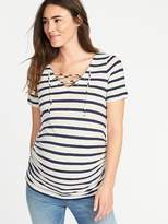 Old Navy Maternity Lace-Up-Yoke Tee