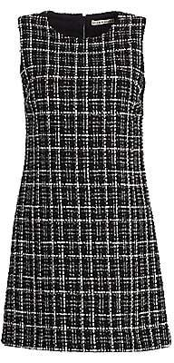 Alice + Olivia Women's Coley Tweed A-Line Mini Dress - Size 0