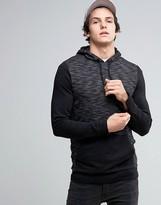 Asos Longline Muscle Hoodie With Contrast Sleeves & Cuff Zips