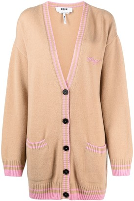 MSGM Button-Front Knitted Cardigan