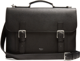 Mulberry Chiltern grained-leather briefcase