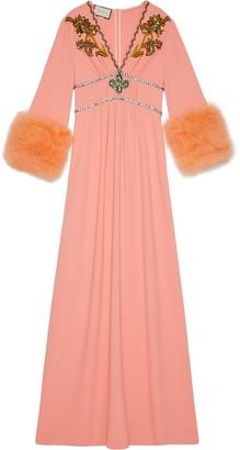 Gucci crystal-embellished evening dress