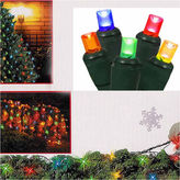 Asstd National Brand 4' X 6' Multi-Color Wide Angle LED Net Style Christmas Lights with Green Wire
