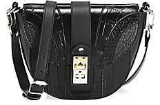 Proenza Schouler Women's Small PS11 Snakeskin & Croc-Embossed Leather Saddle Bag