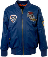 iXtreme Navy Patch-Accent Bomber Jacket - Toddler & Boys
