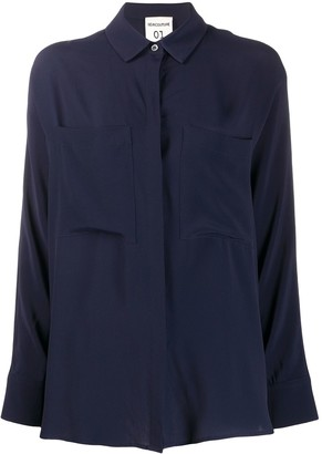 Semi-Couture Gabrielle concealed button shirt