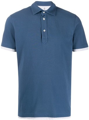 Brunello Cucinelli Layered-Effect Short-Sleeved Polo Shirt