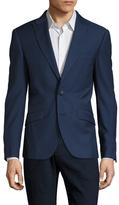 Antony Morato Solid Blue Peak Lapel Sportcoat