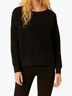 French Connection Mozart Slash Neck Cropped Jumper
