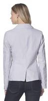 Merona Women's Seersucker Jacket - Grey/White