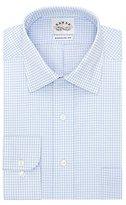 Eagle Men's Non Iron Regular Fit Check Spread Collar Dress Shirt