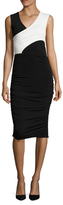 Rachel Roy Tricot Jersey Ruched Midi Dress