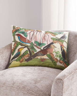 John Derian Floral Aviary Parchment Pillow