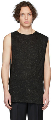 Martin Asbjorn Black and Gold Lurex Damien Tank Top