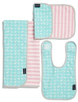 Infant Girl's Bella Tunno Bib, Burpie Cloth & Play Mat Set