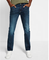 Express slim fit slim leg cooling performance stretch jeans