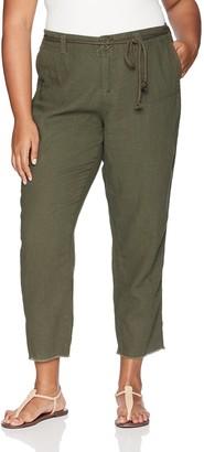 Dollhouse Women's Size Army Green Plus Linen 16