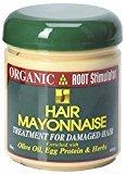 Organic Root Stimulator Olive Oil Hair Mayonnaise 16 oz per Jar (4 Pack)