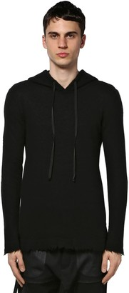 Unravel Hooded Cashmere Knit Sweater