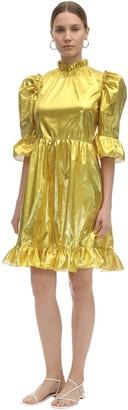 Batsheva Spring Prairie Metallic Mini Dress